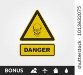 danger skull sign | Shutterstock .eps vector #1013632075