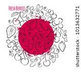 berries hand drawn vector... | Shutterstock .eps vector #1013632771