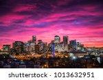 downtown denver sunrise   Shutterstock . vector #1013632951