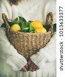 Woman Gardener In White Woolen...
