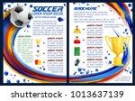 soccer sport game or football... | Shutterstock .eps vector #1013637139