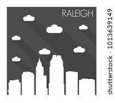 raleigh north carolina usa flat ... | Shutterstock .eps vector #1013639149