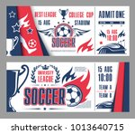 soccer league cup championship... | Shutterstock .eps vector #1013640715