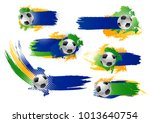 soccer game banners or football ... | Shutterstock .eps vector #1013640754
