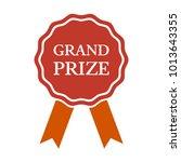 grand prize medal on white... | Shutterstock .eps vector #1013643355