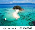 coron palawan beach aerial view | Shutterstock . vector #1013646241