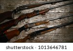 collection of hunting rifles | Shutterstock . vector #1013646781