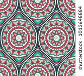 seamless pattern with ethnic... | Shutterstock .eps vector #1013648884
