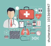 health care and medicine... | Shutterstock .eps vector #1013648947