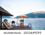 floating home stay at morning... | Shutterstock . vector #1013649295