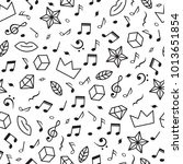 doodle seamless pattern with... | Shutterstock .eps vector #1013651854