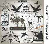 set of vintage labels on hunting | Shutterstock .eps vector #101365249