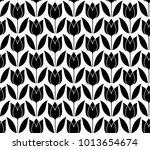 ornament tulip pattern | Shutterstock .eps vector #1013654674
