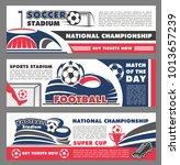 soccer cup championship match... | Shutterstock .eps vector #1013657239