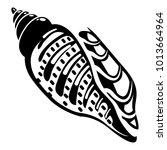 ocean shell icon. simple...   Shutterstock .eps vector #1013664964
