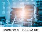stock market or forex trading... | Shutterstock . vector #1013665189