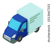single car icon. isometric... | Shutterstock .eps vector #1013667331