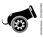 anti aircraft gun icon. simple... | Shutterstock .eps vector #1013667481