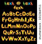 alphabet letters in sun colors | Shutterstock .eps vector #101366911
