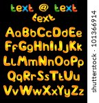 alphabet letters in sun colors | Shutterstock . vector #101366914