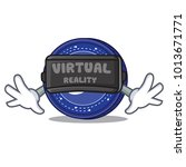 with virtual reality status... | Shutterstock .eps vector #1013671771