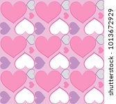 Pattern Pink Hearts Vector...