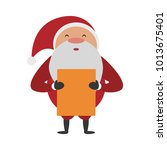 santa claus with wish list   Shutterstock .eps vector #1013675401