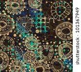 art floral ornament vintage... | Shutterstock . vector #101367949