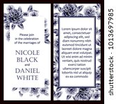 romantic invitation. wedding ... | Shutterstock . vector #1013697985