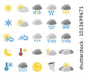 set of 25 weather icon. weather ...