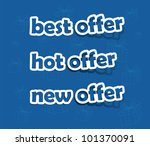 vector best  hot and new offer  ... | Shutterstock .eps vector #101370091