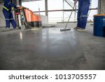 selective focus on epoxy floor... | Shutterstock . vector #1013705557