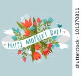happy mother's day floral... | Shutterstock .eps vector #101370811