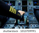 A Pilot Hand Is Controlling...