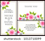 romantic invitation. wedding ... | Shutterstock .eps vector #1013710099