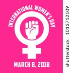 international women's day... | Shutterstock .eps vector #1013712109