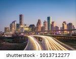 houston  texas  usa downtown... | Shutterstock . vector #1013712277