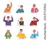 students in various study... | Shutterstock .eps vector #1013715961