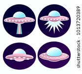 vector space galaxy alien ufo...   Shutterstock .eps vector #1013720389