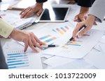 business woman and man... | Shutterstock . vector #1013722009