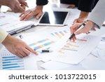 business woman and man...   Shutterstock . vector #1013722015