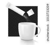 cup with package stick. vector... | Shutterstock .eps vector #1013723209