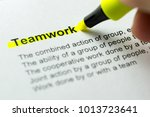 teamword word highlighted in... | Shutterstock . vector #1013723641