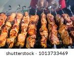 Juicy Slices Of Meat Prepare O...