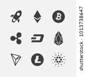 cryptocurrency vector icon set... | Shutterstock .eps vector #1013738647