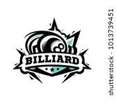 swoosh billiard logo   Shutterstock .eps vector #1013739451