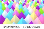 holographic pyramids background.... | Shutterstock . vector #1013739601