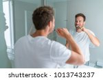 man getting ready in the... | Shutterstock . vector #1013743237