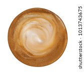 top view of hot coffee... | Shutterstock . vector #1013743675