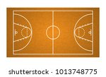 top view basketball field... | Shutterstock .eps vector #1013748775